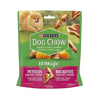 Dog Chow Bocaditos sabor Carne e Cenoura 75g