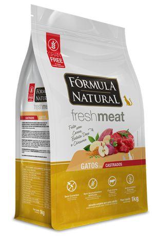 Ração para Gatos Fórmula Natural Fresh Meat Adultos Castrados Carne 1kg