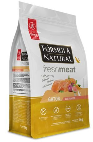 Ração para Gatos Fórmula Natural Fresh Meat Adultos Castrados Salmão 1kg