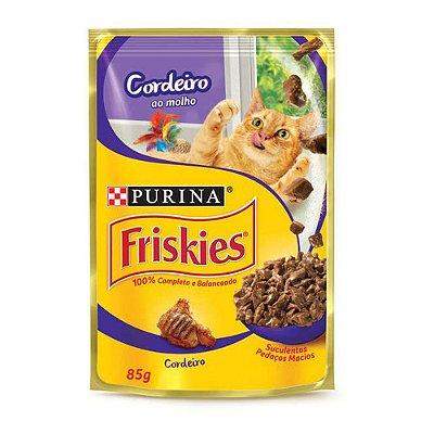 Friskies Sachê para Gatos Adultos sabor Cordeiro 85g