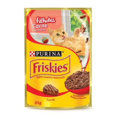 Friskies Sachê para Gatos Filhotes sabor Carne ao Molho 85g