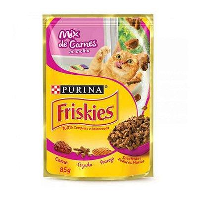 Friskies Sachê para Gatos Adultos sabor Mix de Carne 85g