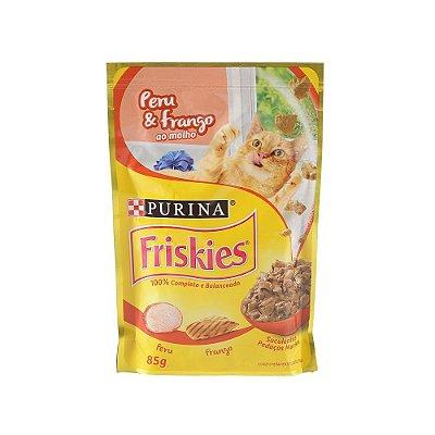 Friskies Sachê para Gatos Adultos sabor Peru e Frango 85g