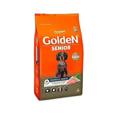 Golden para Cães Sênior Mini Bits sabor Frango e Arroz 10kg