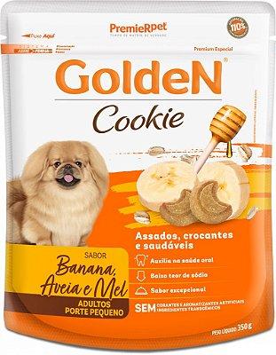 Biscoito para Cães Adultos Golden Cookie Banana e Aveia Pequeno Porte 350g