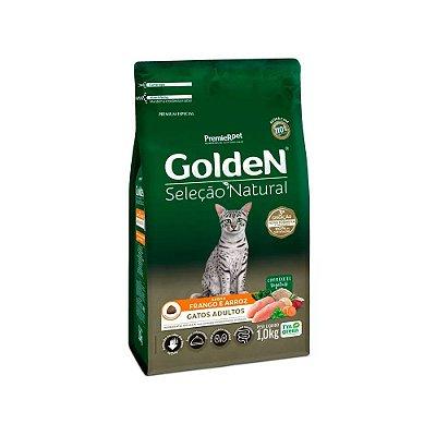 Golden Seleção Natural para Gatos Adultos sabor Frango e Arroz 1kg