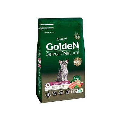 Golden Seleção Natural para Gatos Filhotes sabor Frango e Arroz 1kg