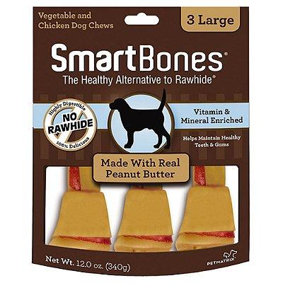 SmartBones Osso 3 Large sabor Manteiga de Amendoim 340g