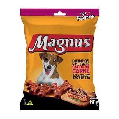Magnus Bifinho Mastigável para Cães Adultos de Pequeno Porte sabor Carne 60g