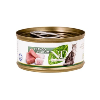 N&D para Gatos sabor Frango com Atum 70g