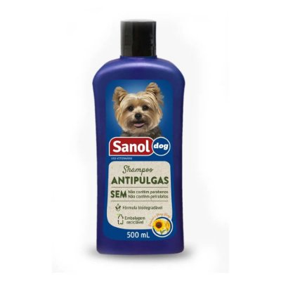 SANOL DOG SH. ANTIPULGAS 500ML