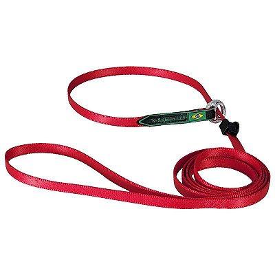 K9 Guia Unificada 1,50m cor Vermelho