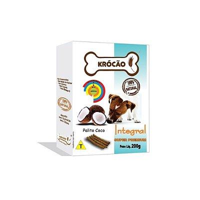 Krocão Biscoito Integral Palito sabor Coco 200g