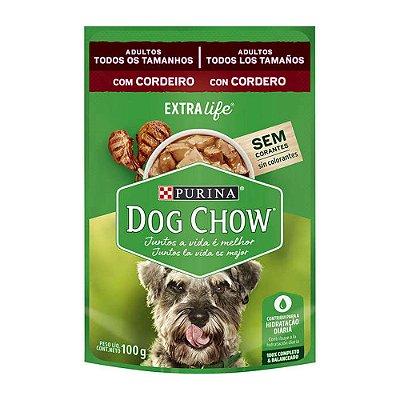Dog Chow Sachê para Cães sabor Cordeiro 100g