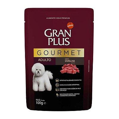 Gran Plus Gourmet Sachê para Cães Adultos sabor Ovelha 100g
