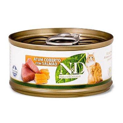 N&D para Gatos sabor Atum com Salmão 70g