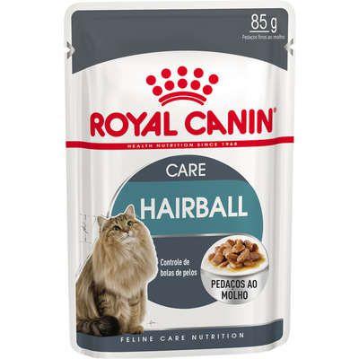 Ração Úmida para Gatos Royal Canin Sachê Hairball 85g