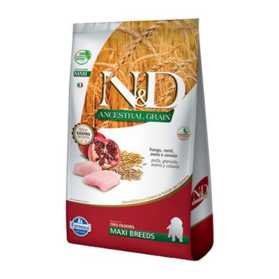 N&D Ancestral Grain Maxi Breeds para Cães Filhotes sabor Frango 10,1kg