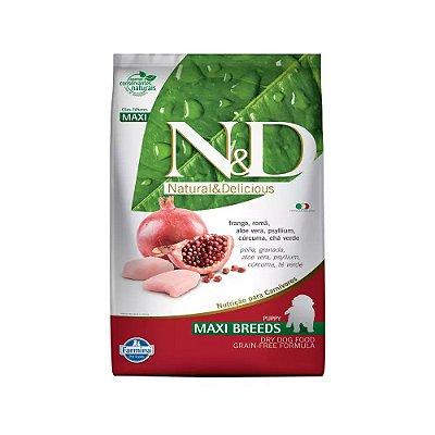 N&D Prime Maxi Breeds para Cães Filhotes sabor Frango, Romã, e Cúrcuma 10,1kg