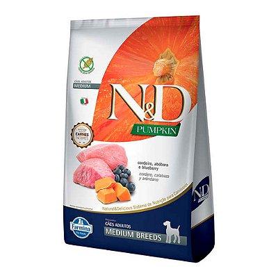 N&D Pumpkins Medium Breeds para Cães Adultos sabor Cordeiro, Abobora e Blueberry 10,1kg