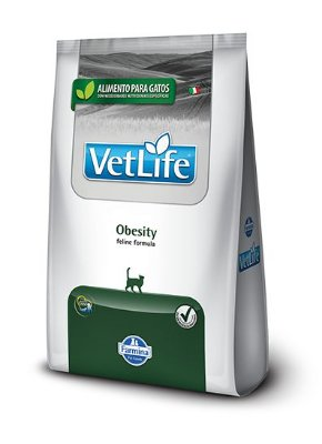 Ração para Gatos Vet Life Obesity 2kg