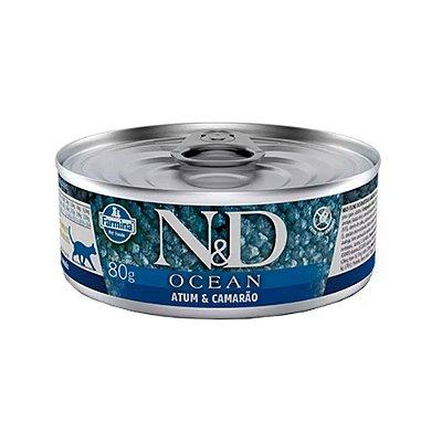 N&D Ocean para Gatos sabor Atum & Camarão 70g