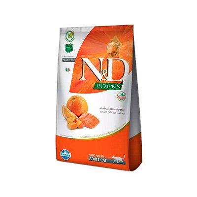 N&D Pumpkins para Gatos Adultos sabor Salmão, Abobora e Laranja 1,5kg