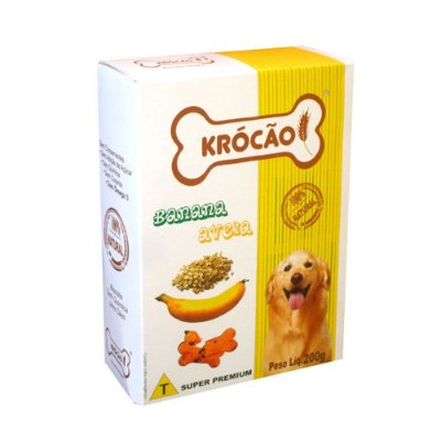 Krocão Biscoito Integral sabor Banana e Aveia 200g