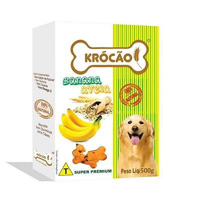 Krocão Biscoito Integral sabor Banana e Aveia 500g