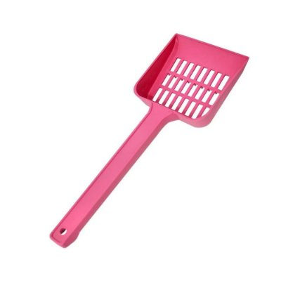 São Pet Pá Higiênica Plástica cor Rosa