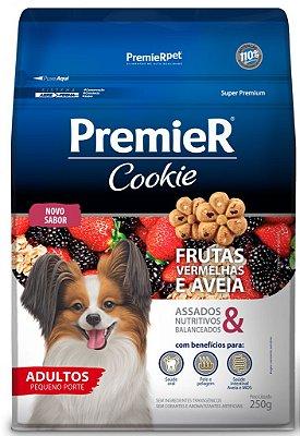 Biscoito para Cães Premier Cookies Adulto Frutas Vermelhas e Aveia 250g