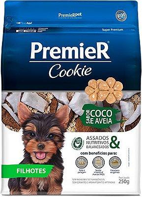 Biscoito para Cães Premier Cookie Filhote Coco e Aveia 250g