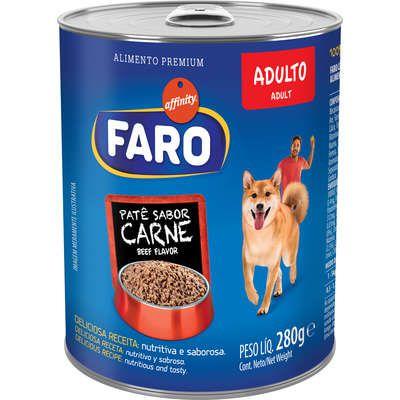 Alimento Úmido para Cães Faro Lata Carne 280g
