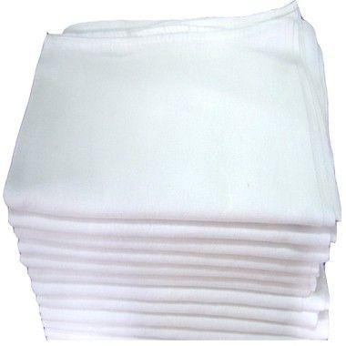 Pano de prato com Bainha liso Engomatextil Extra 100% Algodão 45x72cm - Pacote com 10 Peças