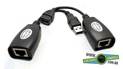Extensor USB até 45 Metros via Cabo de Rede Cat5e/6
