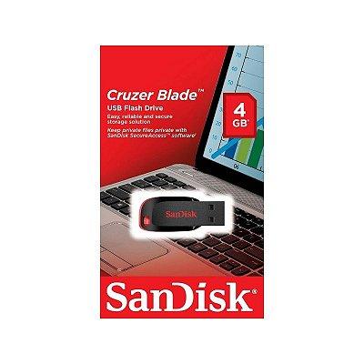 Pendrive Cruzer Blade 4GB Sandisk