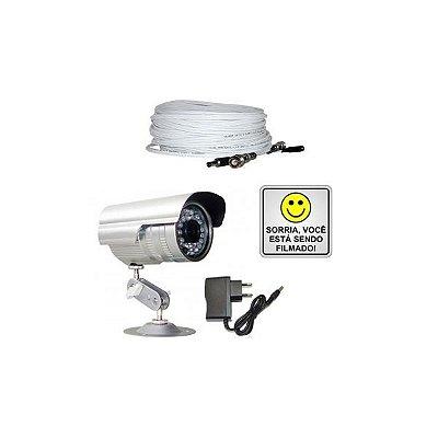 Kit Vigilância para TV Color c/ visão noturna