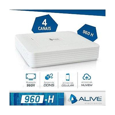 DVR HÍBRIDO ALIVE 4 CANAIS 960h P2P NUVEM - HDMI