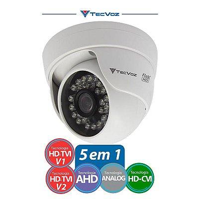 CÂMERA DOME TECVOZ FLEX HD 5 EM 1 HD-TVI/ AHD/ HDCVI/ CVBS
