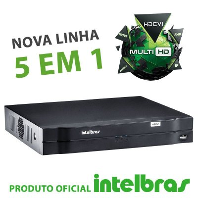 DVR Intelbras 08 Canais Multi HD Alta Resolução MHDX 1008