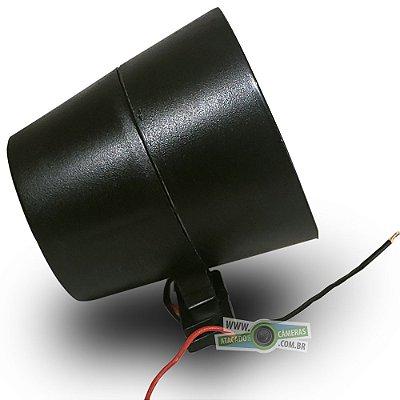 Sirene para Centrais de Alarme e Cerca Elétrica Gcp Piezzo compacta 120db Bitonal