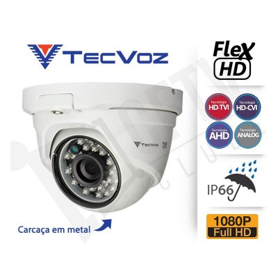 CÂMERA DOME SUPER HD TECVOZ QDM-228 TECNOLOGIA FLEX - FULL HD
