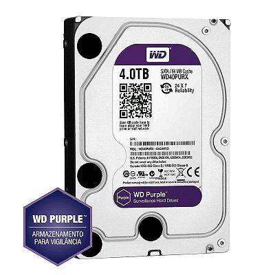 HD Sata Western Digital (WD) Purple 4TB - Sugerido pela Intelbras