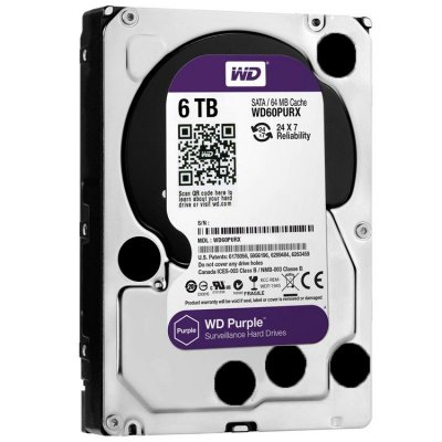 HD SATA WESTERN DIGITAL WD PURPLE 6TB - IDEAL PARA INTELBRAS