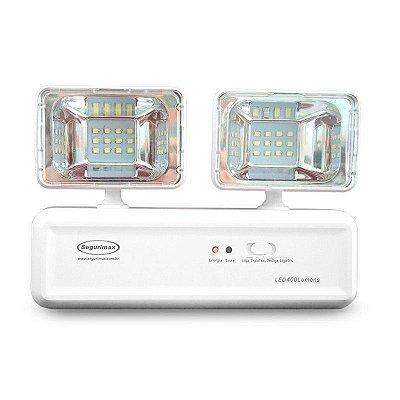 Iluminação de Emergência Segurimax Led 400 Lumens com 2 Faróis