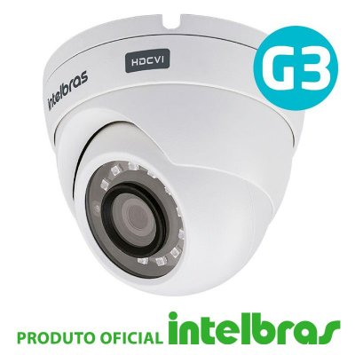 CÂMERA DOME INTELBRAS FULL HD 1220D G3 MULTI HD