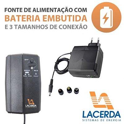 FONTE COM BATERIA EMBUTIDA LACERDA UPS-30