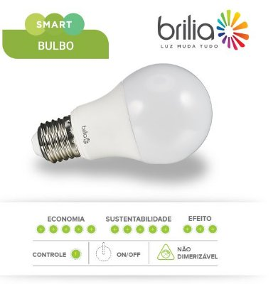 LÂMPADA DE LED SMART BULBO 9W A60 - BRILIA