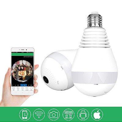 Lâmpada de Led Bulbo com Câmera Escondida 360° Wifi