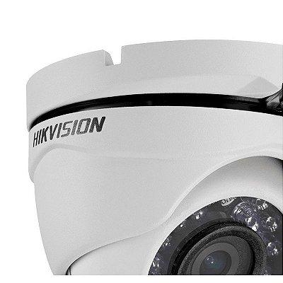 Câmera Hikvision Dome HD-TVI Turbo HD (1.0MP | 720p | 2.8mm | Metal)